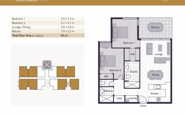 Type B apartments