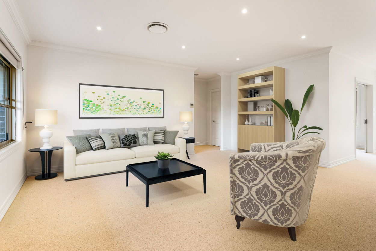 Spacious home with pleasant outook