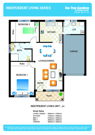 Our biggest two bedroom floorplan – rare and in a lovely street!