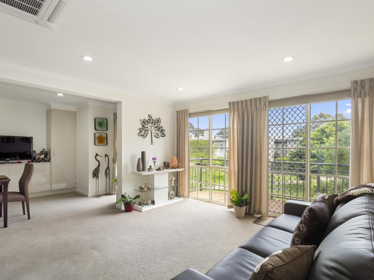 Modern apartment with garden views