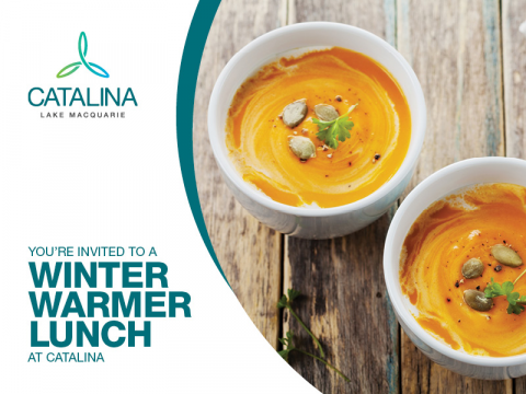 You're invited to a Winter Warmer Lunch at Catalina
