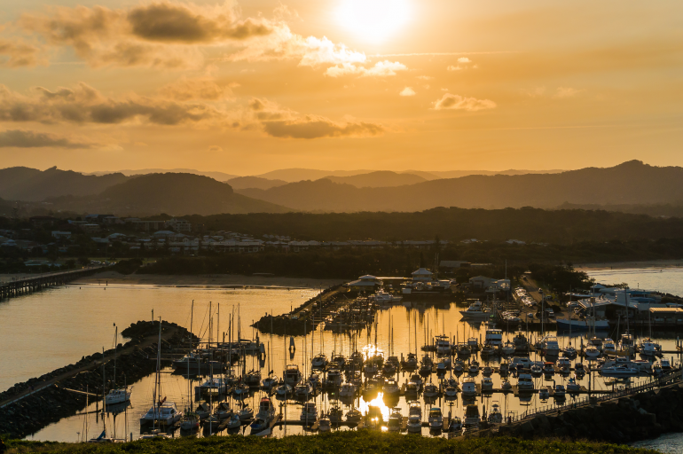 Coffs Harbour at Sunrise