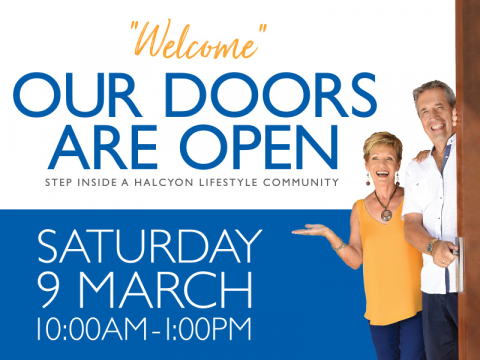 Saturday 9 March - Our Doors are Open!