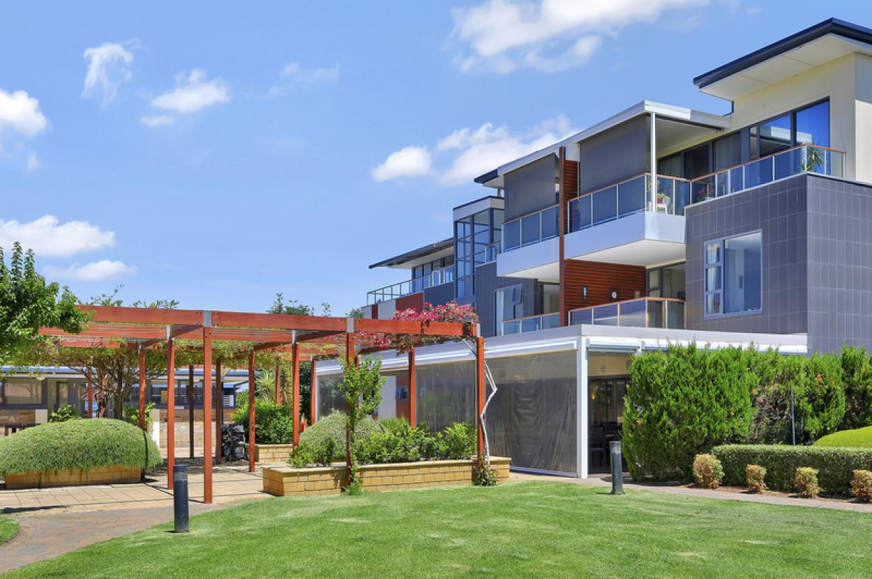 Beautiful apartment with garden views