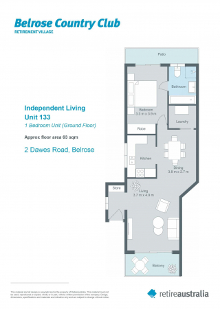 Ground floor unit with sunny front terrace and courtyard.
