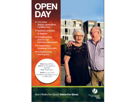 OPEN DAY 28th Oct 10am - 2pm