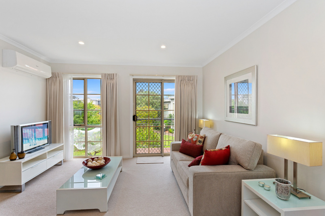 Refurbished modern apartment with garden views