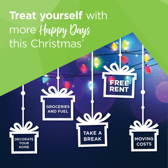 Treat yourself this Christmas with a $1,000* move in gift!