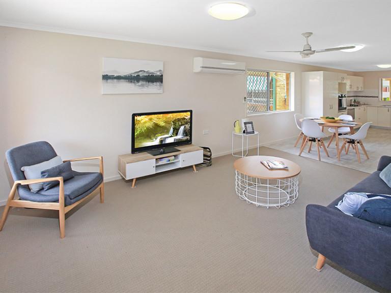 Beautifully renovated three bedroom unit