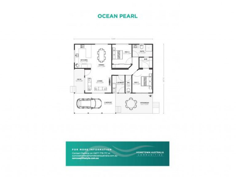 Suncoast's Ocean Pearl design is our best value 2 bedroom design with 2 deck areas to enjoy