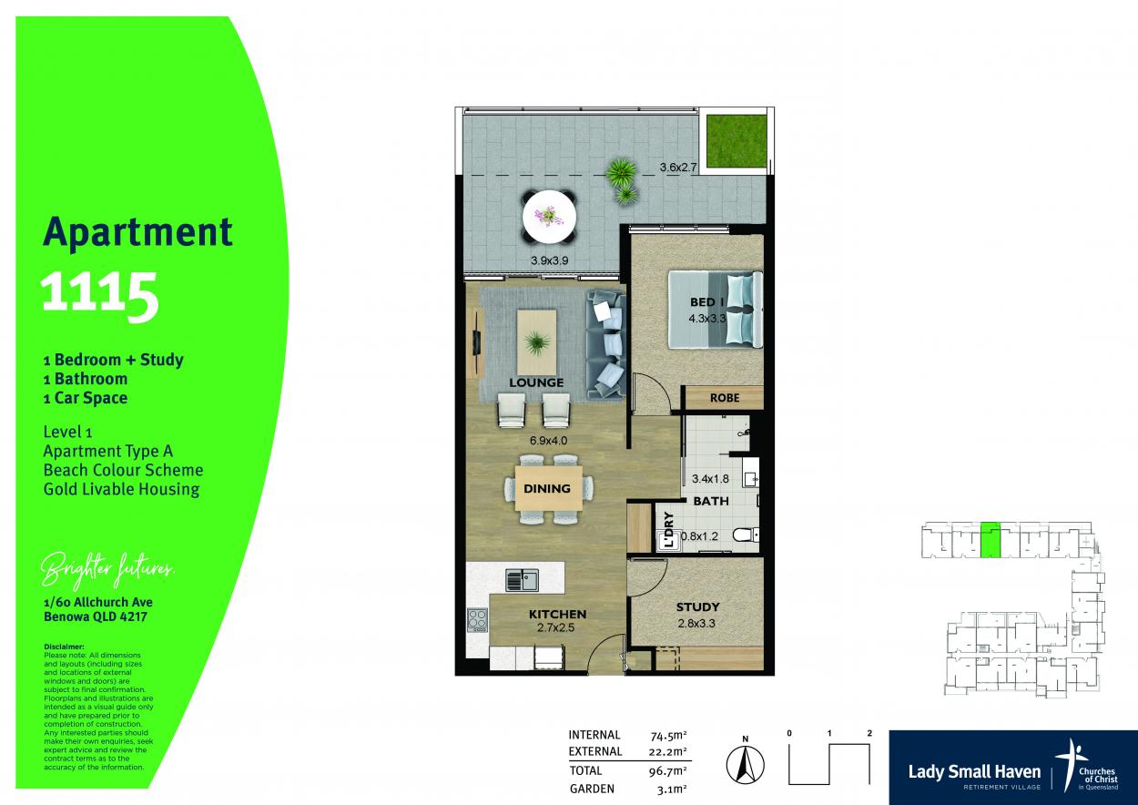 Last remaining 1 bedroom apartment - get in quick!