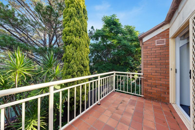 Quietest Location. Elevated balcony with glorious green outlook.