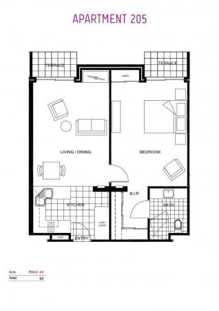 Ground floor apartment situated within the clubhouse
