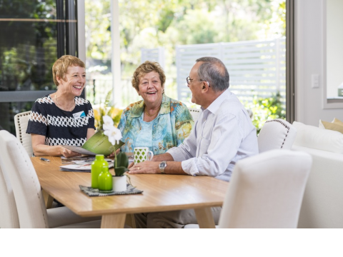 Assisted living in a renowned retirement community
