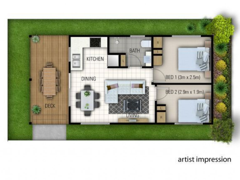 OVER 50's LIVING - 2BR OFF THE PLAN
