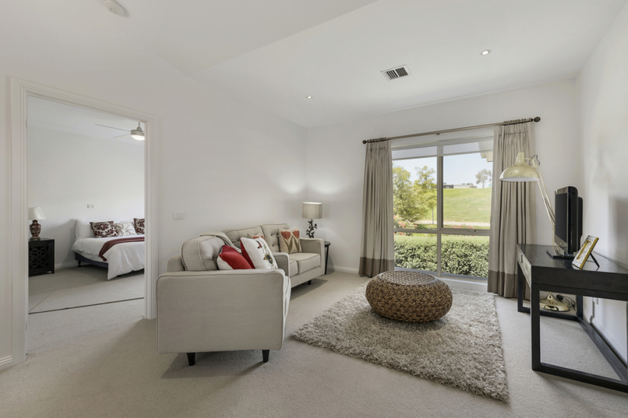 Open plan home with private balcony