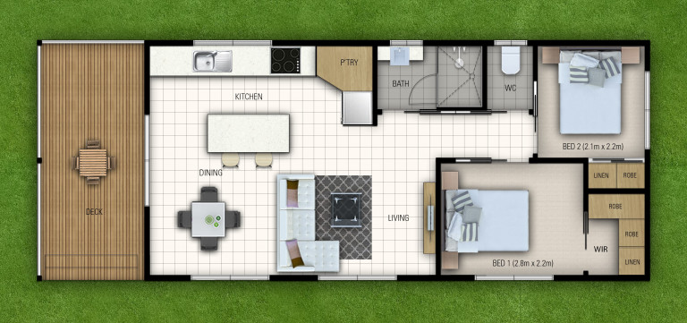 New, Large Two-Bedroom Home
