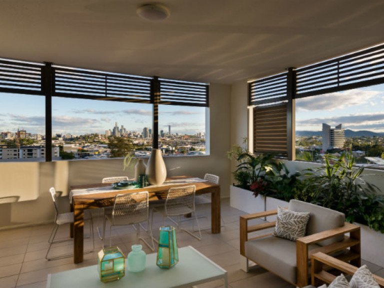 Stunning views from this two bedroom plus study, two bathroom apartment