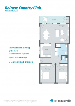 Spacious two bedroom upper level unit with car space