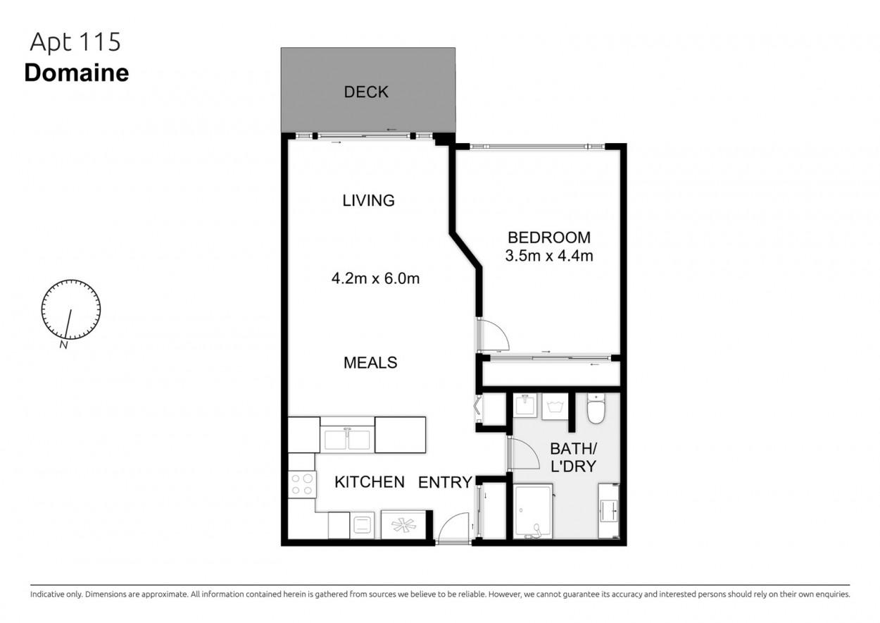 One bedroom, ground floor apartment