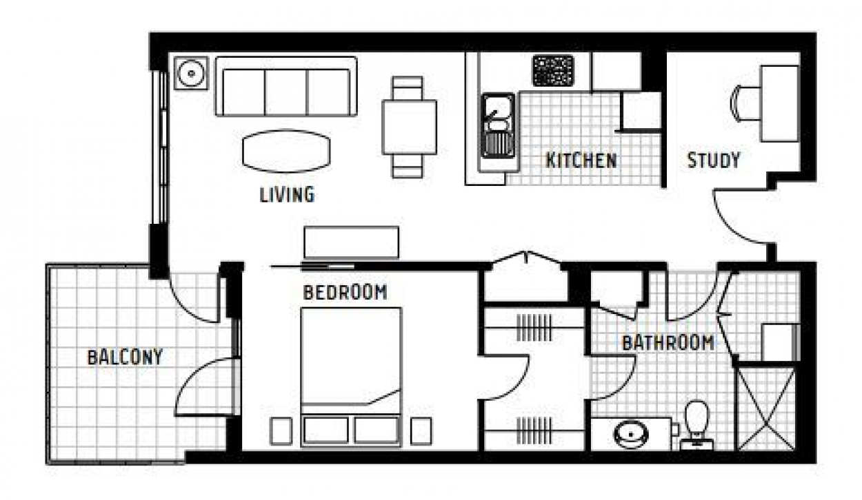 Spacious One Bedroom Apartment with Sought After Separate Study