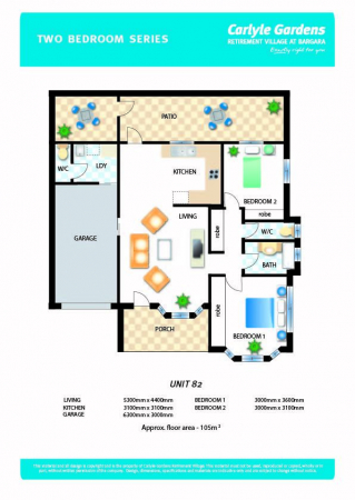 Reinstated two bedroom unit with second toilet