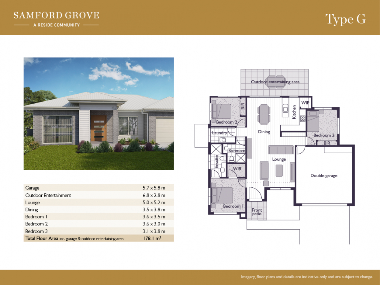Secure one of just three remaining Type G homes at Samford Grove