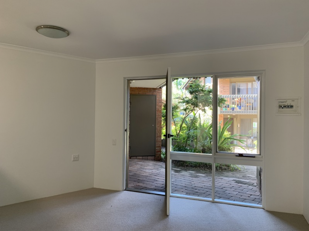 Ground floor unit with private courtyard