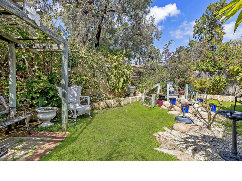 Enter this home via a quaint English style garden. This villa is close to the community centre and has loads of extras to really make you feel at home