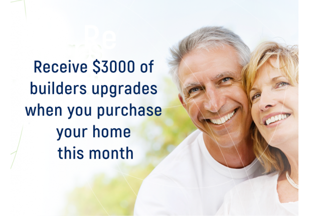 Over 55s Lifestyle Village - Receive $3000 of Builders Upgrades
