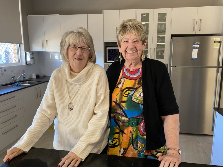 Jan Dale and Christine Magee bonded at a retirement village over shared life experiences