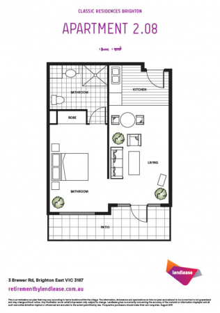 Light filled second floor apartment with balcony.
