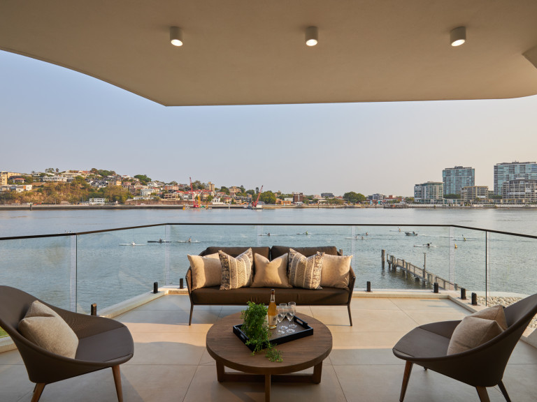 Downsize to More in this Luxury Absolute Riverfront Penthouse