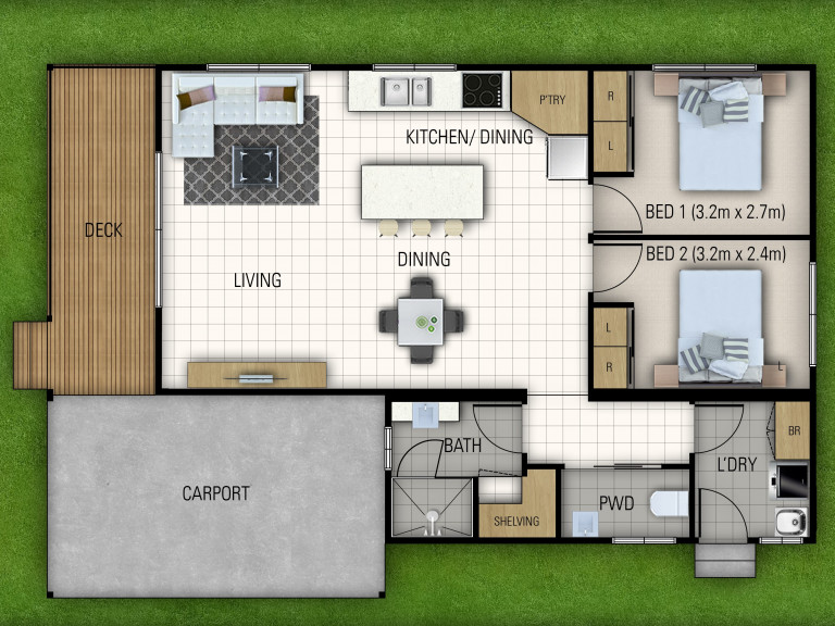 Off The Plan, New Two Bedroom Home awaiting Your Personal Touches