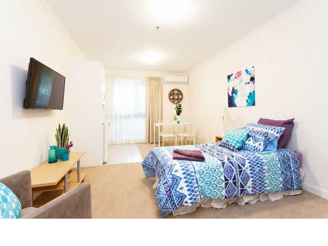 This delightful upgraded serviced apartment is perfect for someone who requires help with the day to day chores!