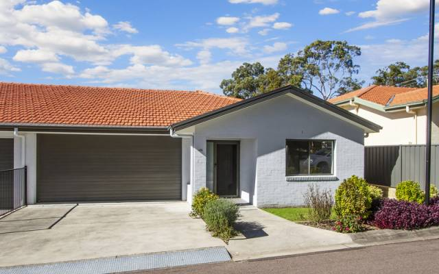 Privately positioned modern home with great appeal
