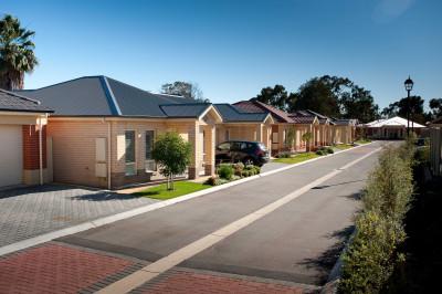 Pasadena Village located close to medical facilities and public transport.