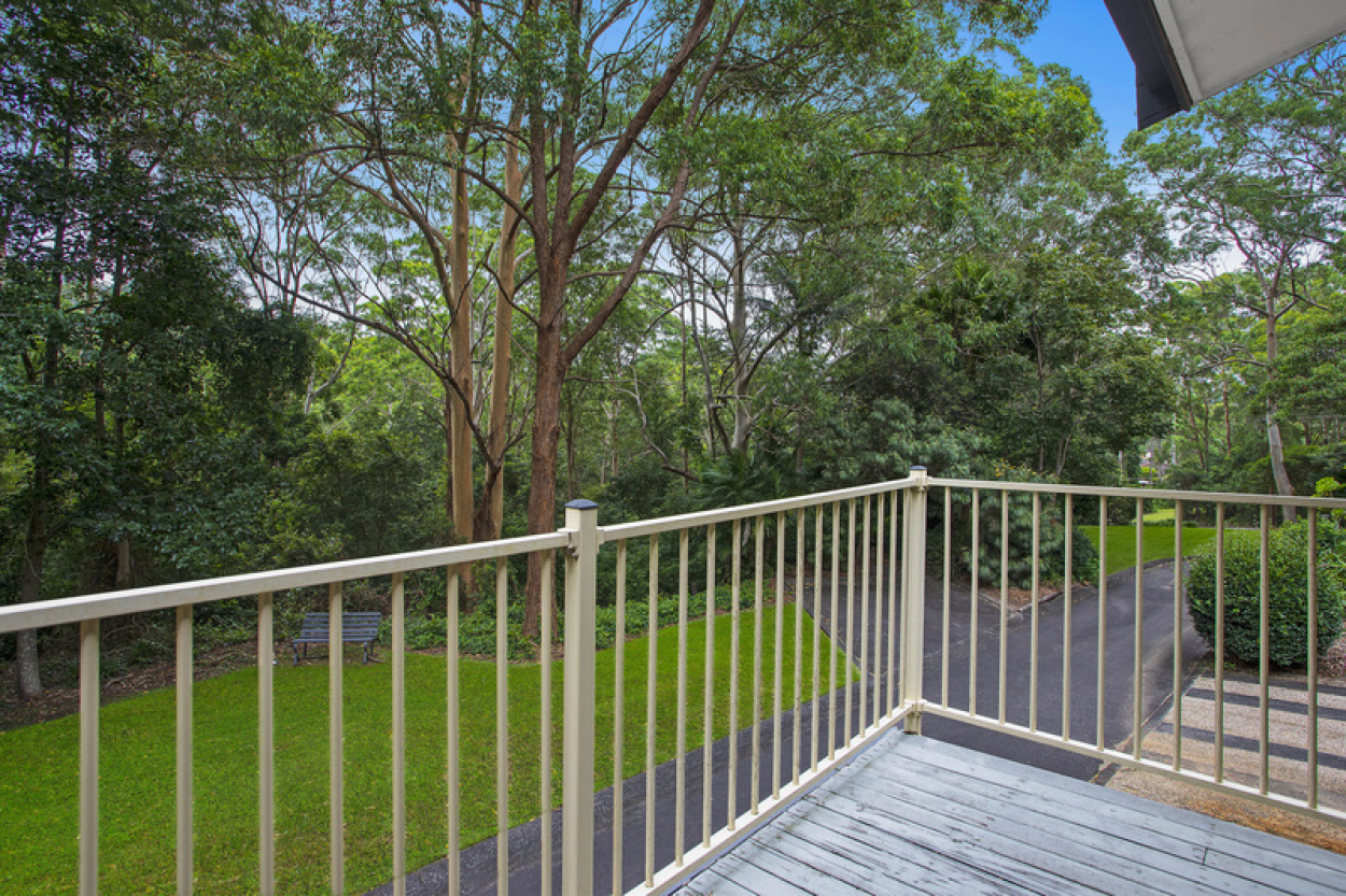 Enjoy the relaxing sights and sounds of the bush from your own private balcony