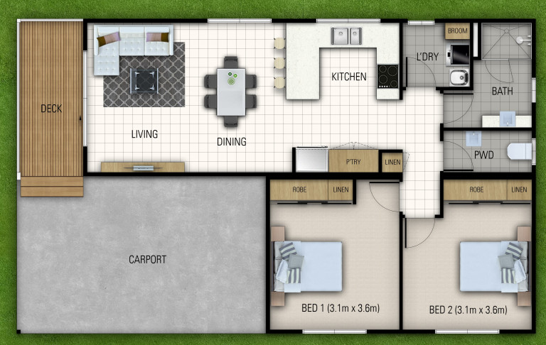 Over 50's Living - New 2 Bedroom Home