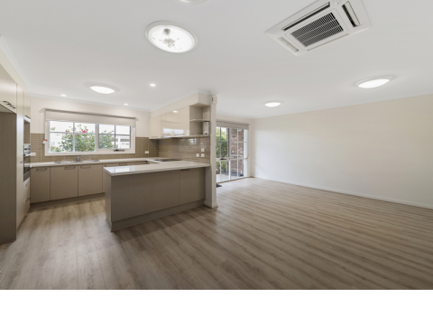 Modern open plan home with a lovely northerly aspect
