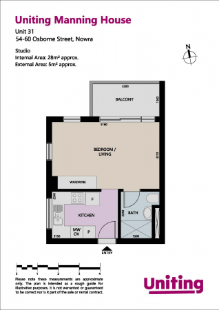 Updated Studio Apartment at Uniting Manning House Nowra 31 54-60 Osborne Street  - Nowra 2541 Retirement Property for Sale