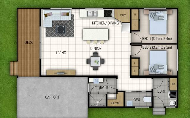 New Two Bedroom Home Awaiting Your Personal Touches