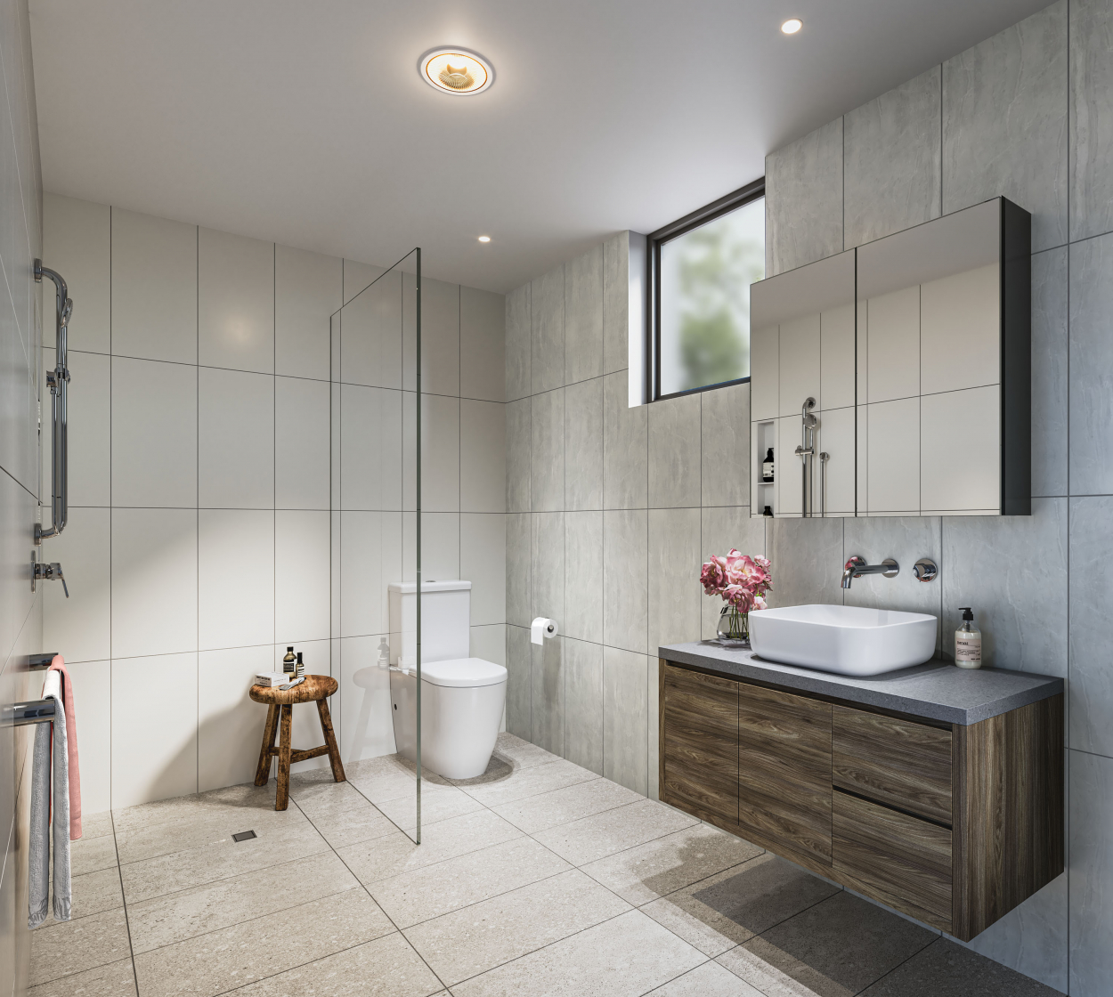 North-facing 2-bedroom bathed in sunlight!