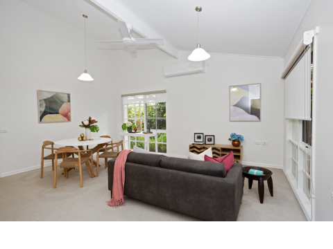Fully upgraded home in a quiet position with lovely outlook