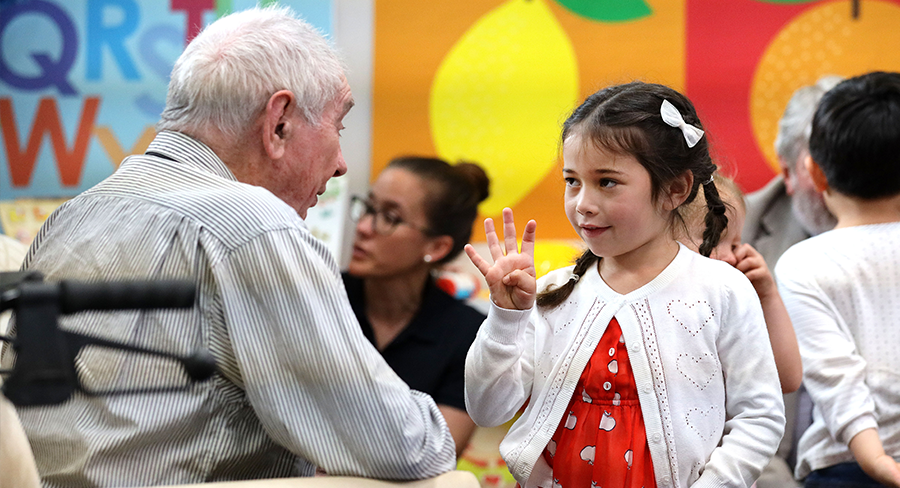 Scene from Older People's Home for Four Year Olds