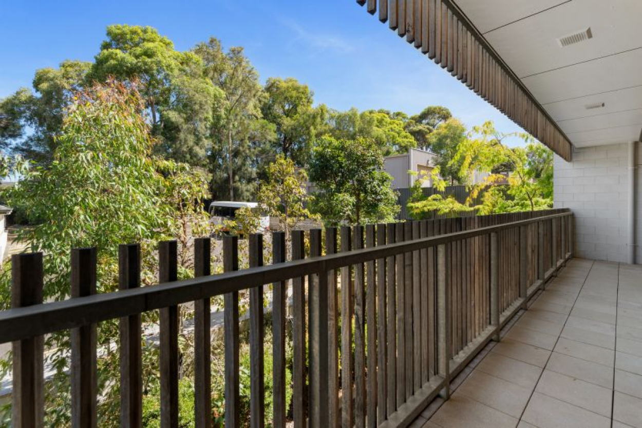 Apartment 106, Retirement Living at Victoria Grange - view out to the gum trees and very peaceful to come home to