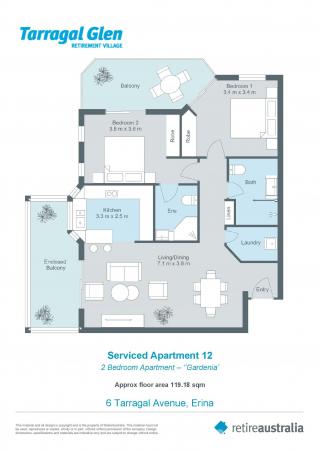Spacious, ground floor 2 bedroom apartment